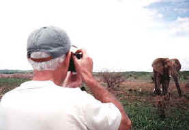 Keith photographing an elephant
